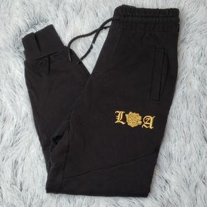 🦋3 for $25🦋 divided xs gold embroidered joggers